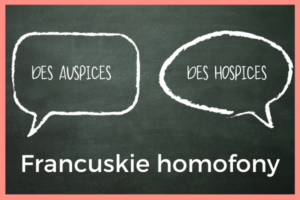francuskie homofony